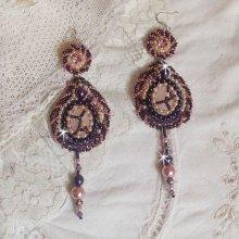 BO avec un Quartz Rose, pierre fine et des perles nacrées façon Grace