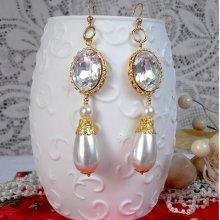 Boucles d'oreilles cristal 'Boucles d'Or' classique et précieux