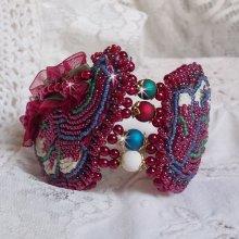 Bracelet manchette Enchantement d'Automne tout en perles, rocailles Miyuki et Toho