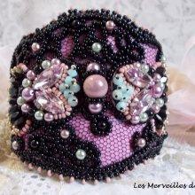 Bracelet tissé et brodé 'Marquise' bijou très raffiné