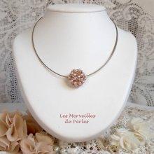 Collier pendentif en perles nacrées 'Boules Nacrées' une ronde de perles