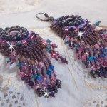 BO Esméralda brodées avec des perles de gemmes, cristal de Swarovski et perles très fines