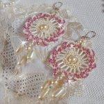 Boucles d'oreilles en perles 'Détente' ronde de perles