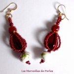 Boucles d'oreilles perles 'Art'D des années 1950