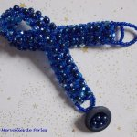 Bracelet en perles 'Bleu Nuit', un bleu intense