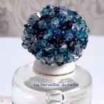 Bague cristal 'Belle de Nuit' bleu cristal ces toupies
