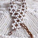 Bracelet en perles de verre 'Horizon' tourbillons de facettes.