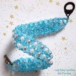Bracelet en perles 'Céleste' ronde de perles