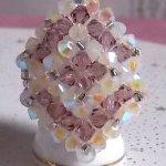 Bague cristal 'Losange' une histoire de perles