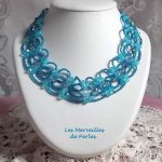 Collier cristal Syracuse avec un  bleu très coloré de perles