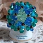 Bague cristal 'Aquamarine' crystal et brillance