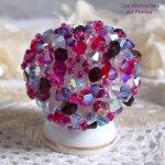 Bague cristal 'Rose piquante' passion de perles