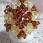 Bague cristal  'Etoilée' éclats de perles
