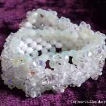 Bracelet cristal 'Vénus', harmonie de cristal.