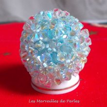 Bague cristal Crystal Blue belle transparence