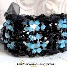Bracelet en perles de verre 'Prestige' facettes en forme