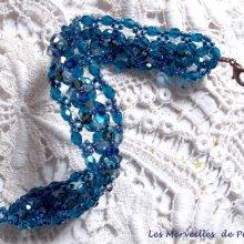 Bracelet cristal 'Belle de Nuit' bleu cristal ces toupies