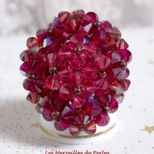 Bague cristal 'Orchidée' rêve de perles