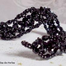 Bracelet cristal 'Nuit Etoilée', toupies en fête