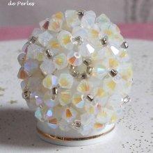 Bague cristal 'Crystal' élégance de perles