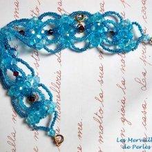 Bracelet cristal 'Syracuse' bleu très coloré