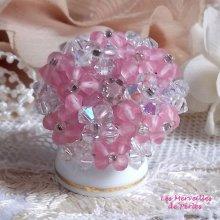 Bague cristal 'Rose Pétillante' enchantement de perles