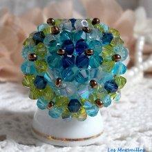 Bague cristal 'Espérance'  raffinement ces couleurs