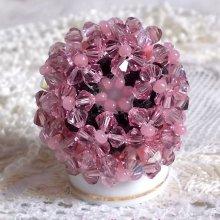 Bague cristal 'Anémone' nombreuses sont les perles