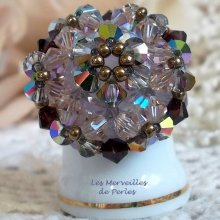 Bague cristal 'Charmeuse' précieuses perles