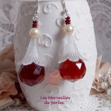 Boucles d'oreilles cristal 'Marielle' effet coloré