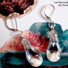 Boucles d'oreilles Merveilles  'Crystal' élégantes par le charme du cristal