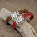 Bracelet cuir décoré noeud celtique personnalisable