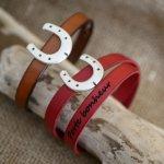 Bracelet cuir Fer à cheval