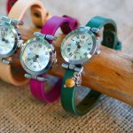 Montre argent au bracelet cuir avec boucle argenté