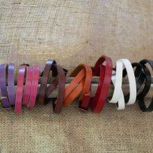 Bracelet mixte 3 tours en cuir couleur au choix