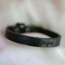 Bracelet Homme en cuir Noir à personnaliser
