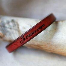 Bracelet homme cuir Marron à personnaliser