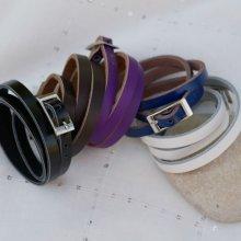 Un autre bracelet cuir pour votre montre argent