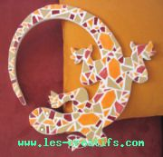 lezard en mosaque - Idees Mosaiques Image