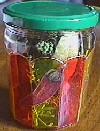 pot peinture sur verre