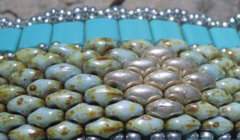 bracelet en perles Twin beads