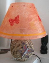 customisation d'une lampe strass