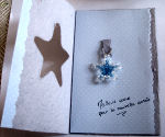 décor carte de Noël en perles cristal