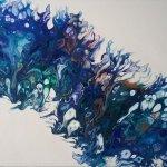 Peinture abstraite - Aquatique