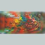 Peinture abstraite - Bubble Gum