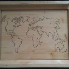 Plateau bois Carte du Monde