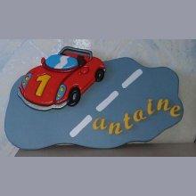 Plaque prénom voiture