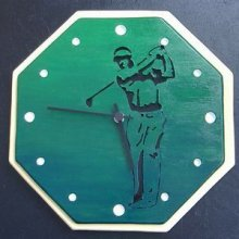 Horloge design en bois 'Golf'