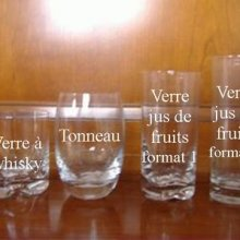 Verre jus de fruits format 1 Motif tribal
