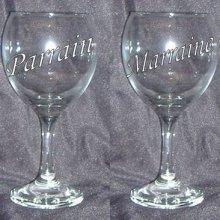 Verre à vin format 1 Parrain ou Marraine